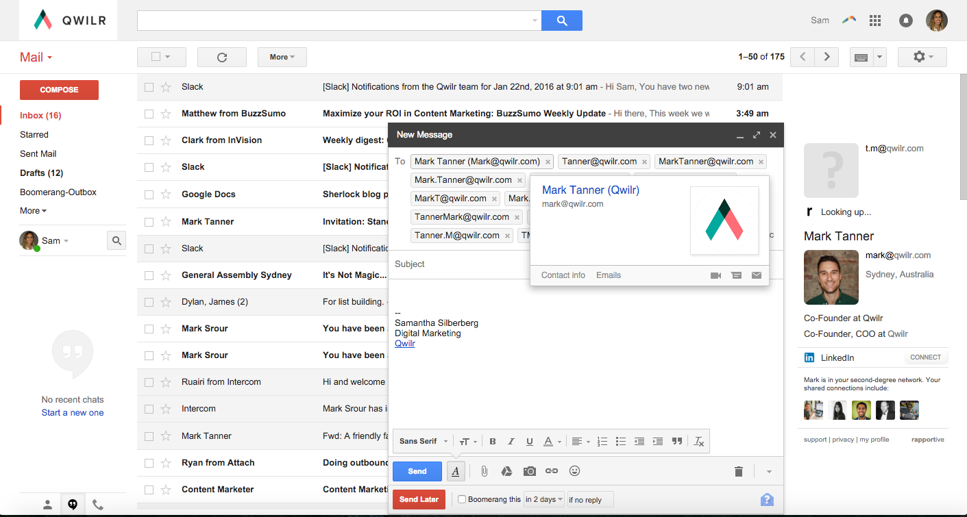 Gmail integration with Sherlock