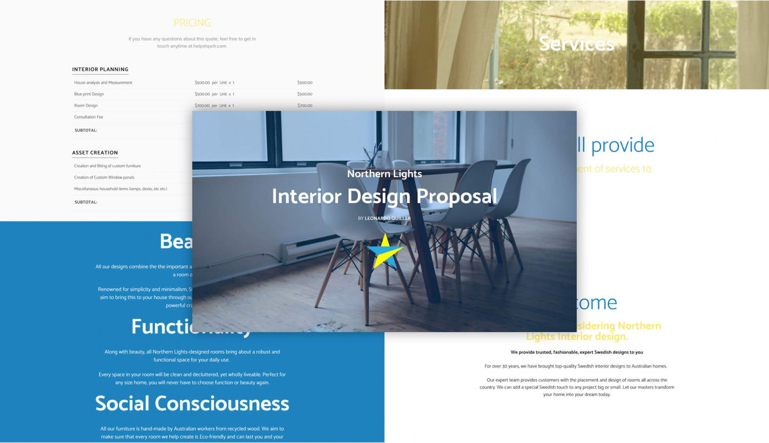 interior design proposal template get free sample